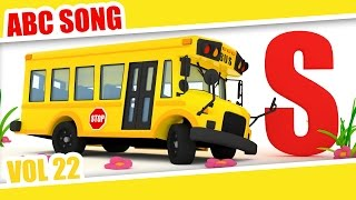 ABC song | School Bus | Easy and Simple Alphabet | kids and babies learning video