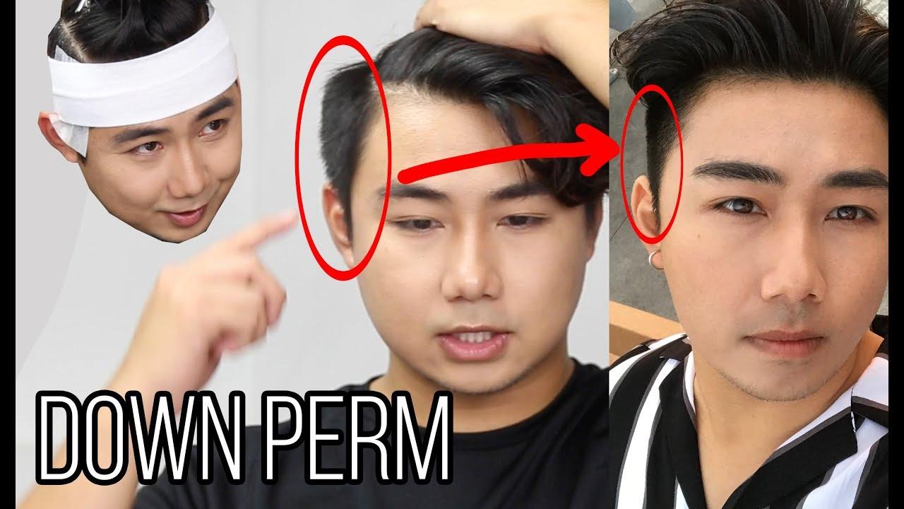 asian perm puffy side hair
