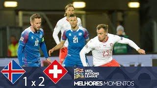 ISLÂNDIA 1 X 2 SUÍÇA - MELHORES MOMENTOS - UEFA NATIONS LEAGUE (15/10/2018)
