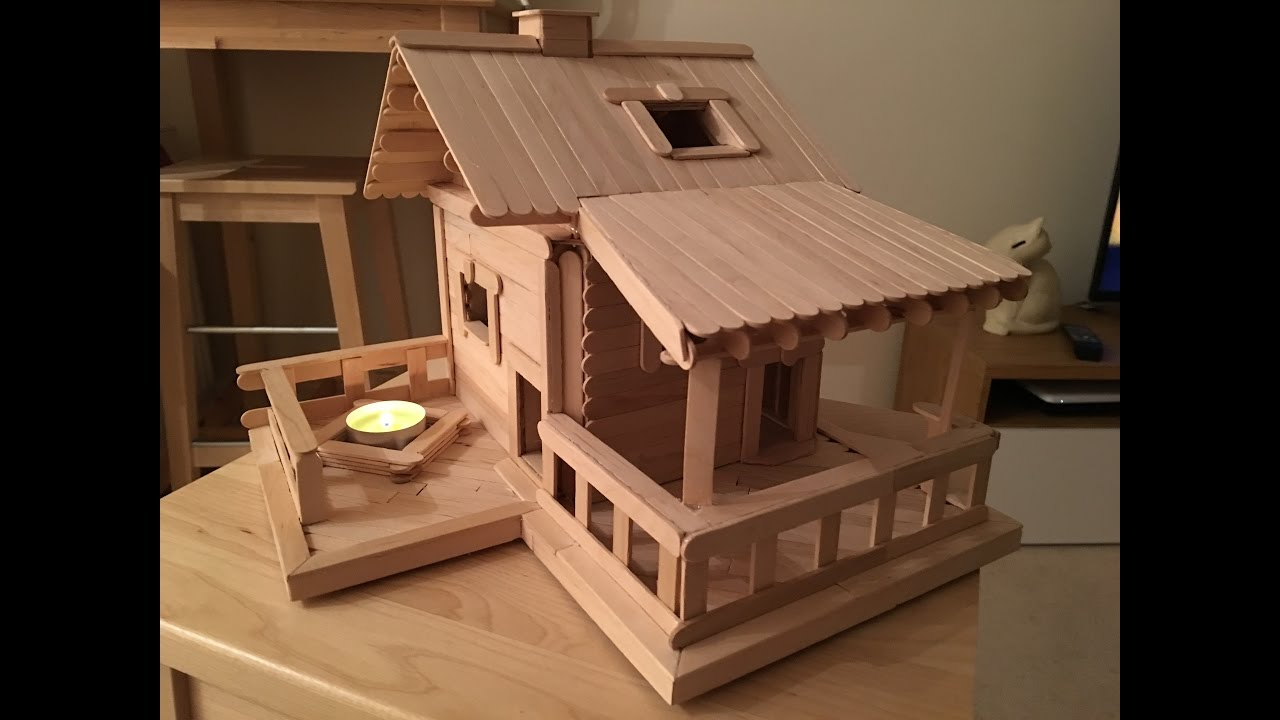 Popsicle Stick House Instructions