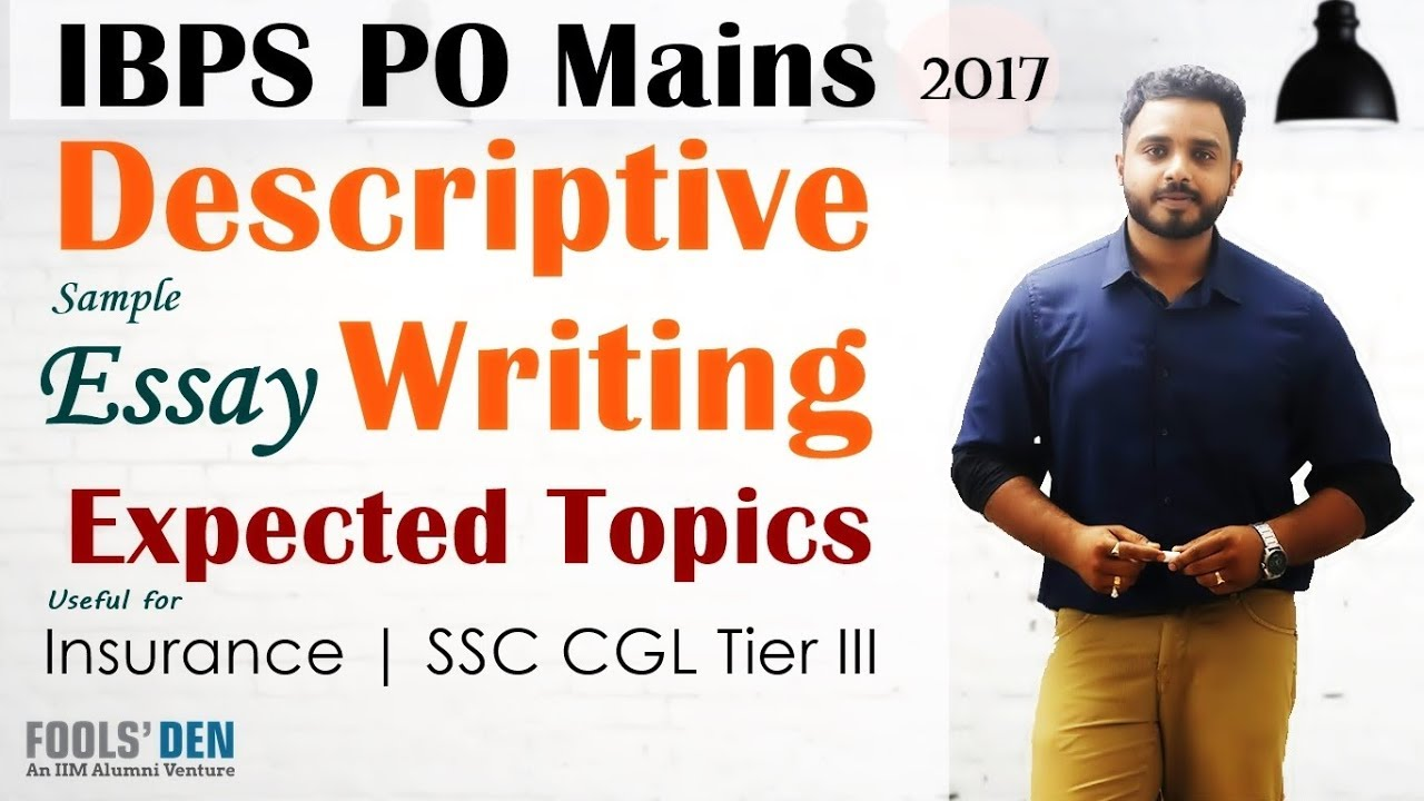 descriptive writing for ibps po mains expected topics  descriptive writing for ibps po mains 2017 expected topics sample essay on women empowerment