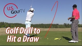 Golf Tip:  Drill for Hitting a Draw