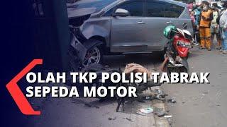 Olah TKP Kecelakaan Polisi Tabrak Sepeda Motor yang Tewaskan 1 Orang