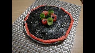 Суши торт с крабовыми палочками