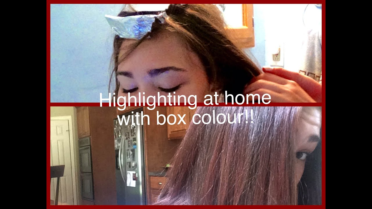 How To Highlight W Box Colour Full Head Hair Dye Not A