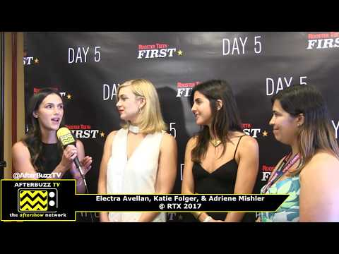 Electra Avellan, Katie Folger, & Adriene Mishler I Day 5 Season 2 Premiere I RTX 2017