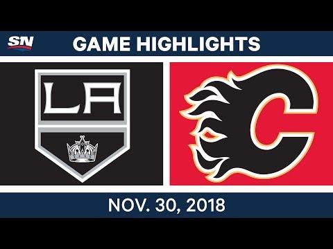 NHL Highlights   Kings vs. Flames - Nov 30, 2018