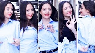 5  طرق لإرتداء قميص واحد