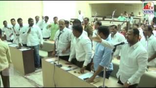 Ahmednagar - महानगरपालिका स्थायी समिती सभा गोंधळ