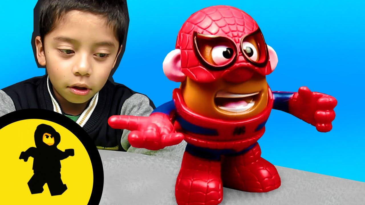 Sr Cara de Papa SpiderMan  Juguetes en espaol  YouTube