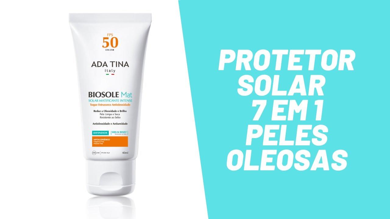 Protetor Solar 7 Em 1 Para Pele Oleosa Biosole Mat Fps 50 Ada