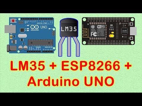 LM35 Temperature Sensor with ESP8266 NodeMCU - Som Tips