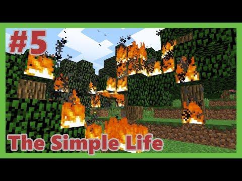 ORMANI YAKTIM! - Minecraft: The Simple Life #5