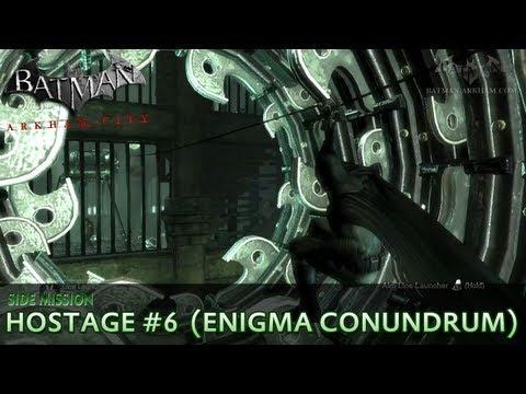 Batman: Arkham City - Riddler Hostage #6 - Enigma Conundrum Side Mission Walkthrough