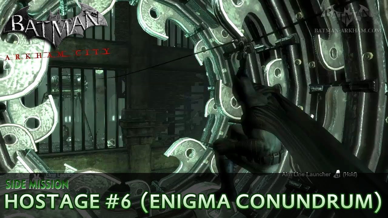 Batman Arkham City Riddler Hostage Enigma Conundrum Side Mission Walkthrough Youtube