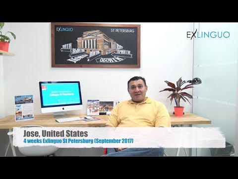 Jose from USA talking about his experience learning Russian at Exlinguo St Petersburg (Sept 2017)