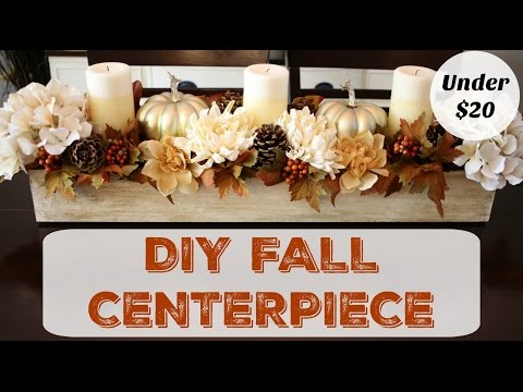 How to Make a Fall Centerpiece - Dollar Store Decor