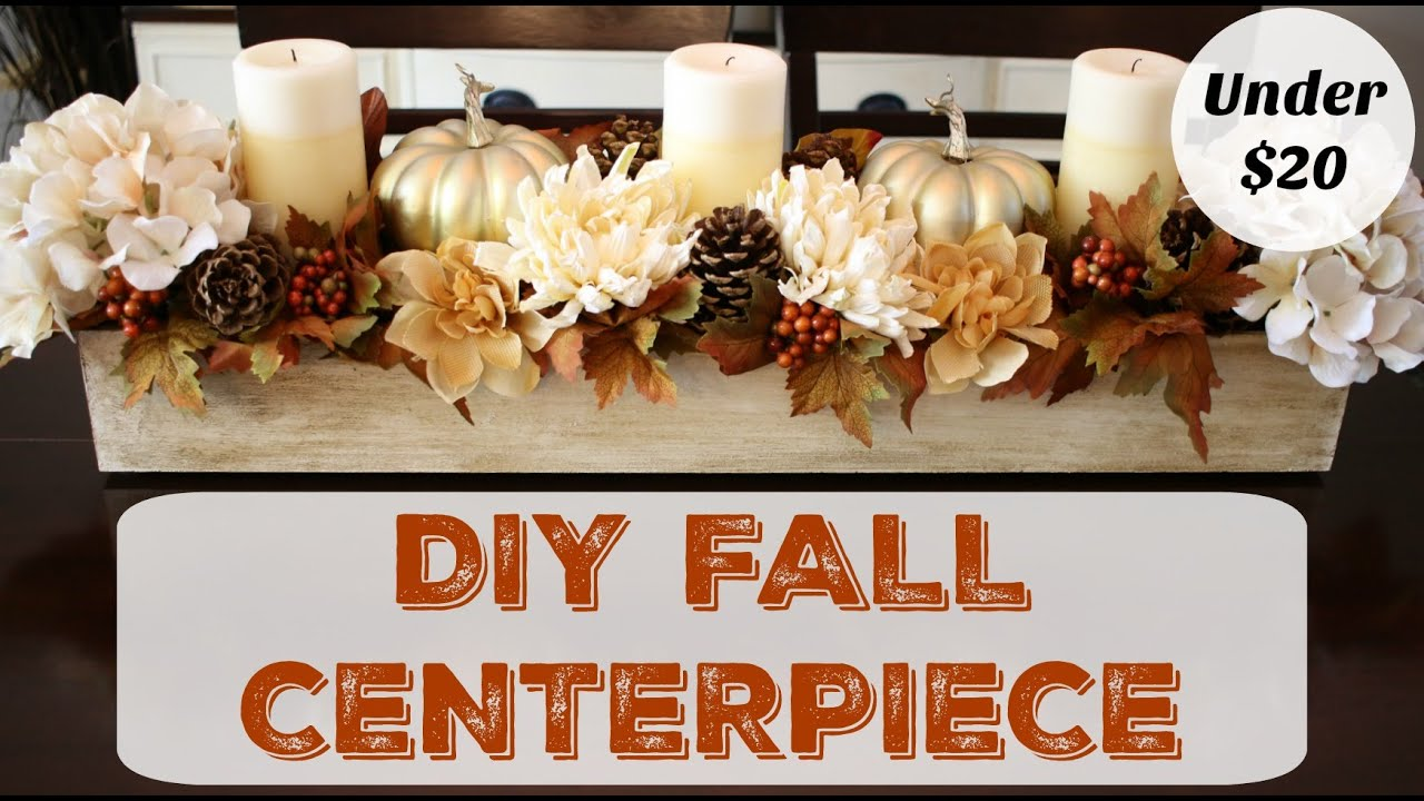 How To Make A Fall Centerpiece   Dollar Store Decor   YouTube