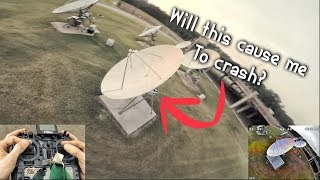 Drone Flight Around Satellite Dishes!! Does it cause issues?
