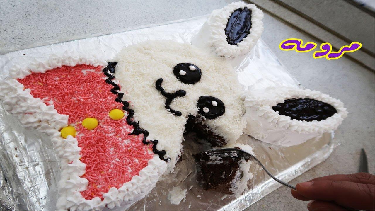 تزيين الكيك بعجينة السكر طريقة بصيطة ومناسبة للمبتدئين مطبخ العائلة العراقية ام فراس Youtube Snoopy Character Art