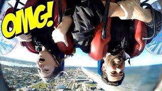 We Rode the Daytona Sling Shot   100 mph 360 ft UPSIDE DOWN!   Taylor and Vanessa