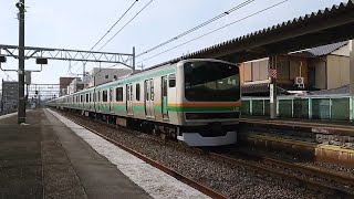 [オールヤマ初期] 高崎線上り回送列車 E231系1000番台15両 桶川駅通過