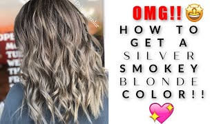 [Full Tutorial] How to do a SILVER SMOKEY BLONDE?!