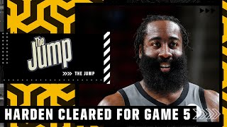 Reacting to James Harden being cleared to play in Game 5 vs. the Bucks   The Jump
