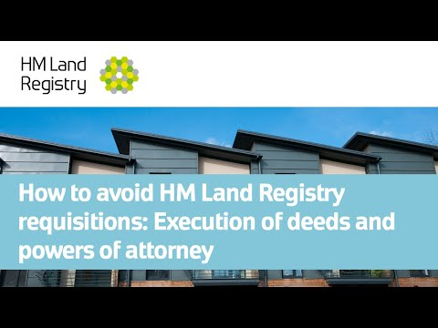 Land Registry Restrictions >> How To Avoid Hm Land Registry Requisitions Execution Of Deeds And
