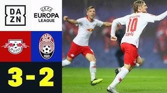 Emil Forsberg rettet Leipzig mit Last-Minute-Elfer: RB Leipzig - Luhansk 3:2 | DAZN HL | EL-Quali