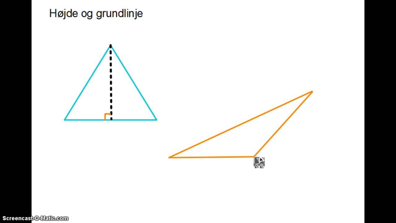 Geometri - Højde og grundlinje