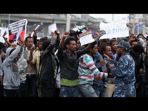 Ethiopia anti-government protesters clash with police in capital, Addis Ababa