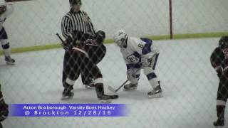 Acton Boxborough Varsity Boys Hockey @ Brockton 12/28/16