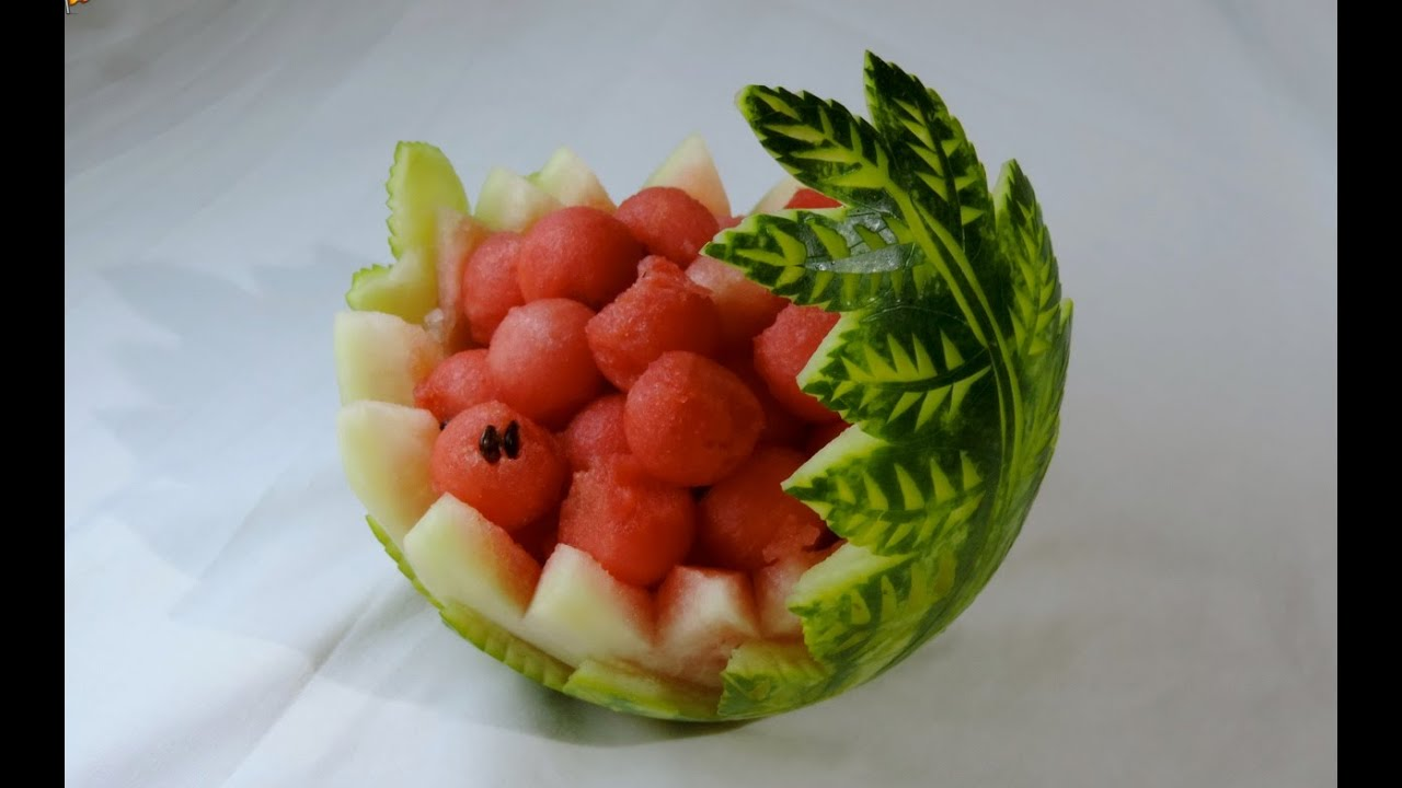 Watermelon carved by j pereira art carving fruits and