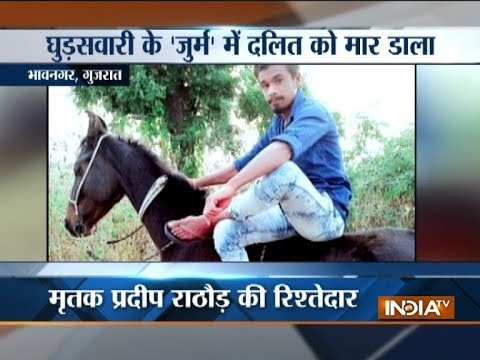 Gujarat: Dalit man killed for riding horse, 3 detained