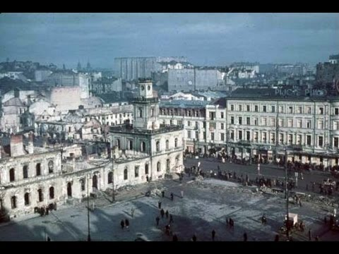 Bombing of Warsaw by Germans 1939. The beginning of the second World War