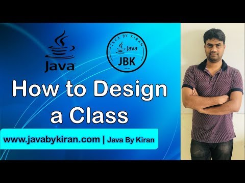 How to design a Class-By Kiran Sir-JAVA By Kiran,Pune