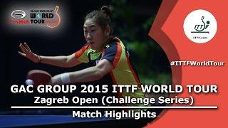 Zagreb Open 2015 Highlights: SHAO Jieni vs PARK Youngsook (R 16)