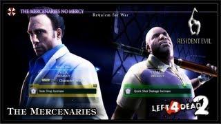 Resident Evil 6 PC Gameplay (Coop) - Left 4 Dead 2 / The Mercenaries No Mercy - Requiem for War