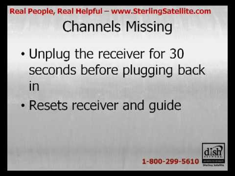 DISH Network Receiver Is Missing Channels