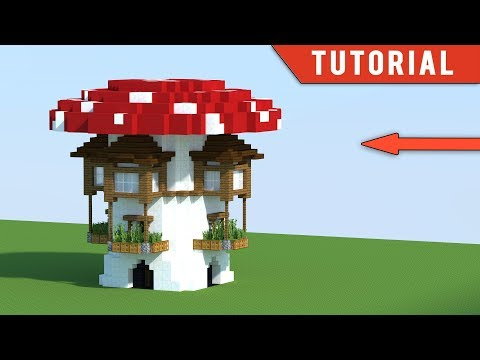 Minecraft: How To Build Modern Survival Base Tutorial - (Mushroom House)
