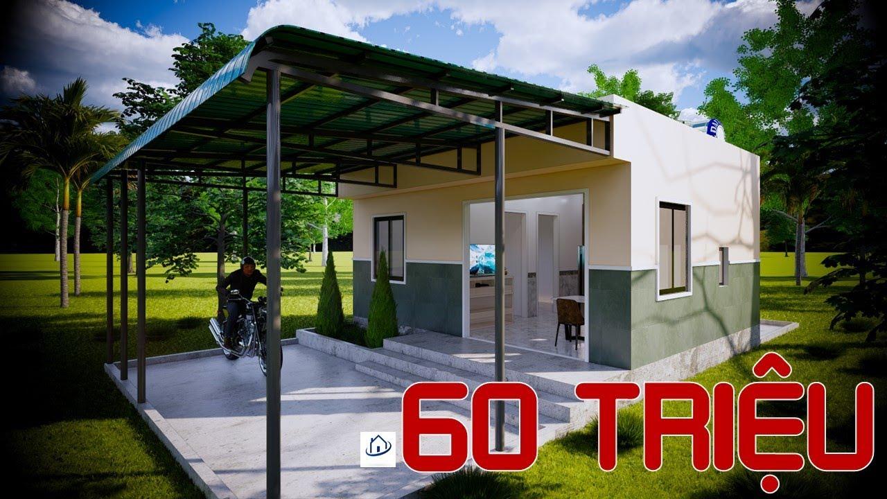 Nhà cấp 4 Rẻ nhất Việt Nam 60 triệu VNĐ – The cheapest House |#SAH