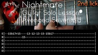 Nightmare Guitar Solo Lesson - Avenged Sevenfold (with tabs)
