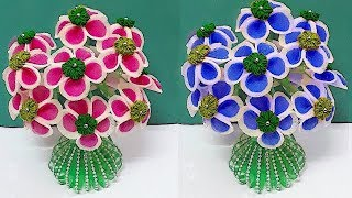 Guldasta from Plastic Bottle and  Foam flower at home (part-1) | Best out of waste