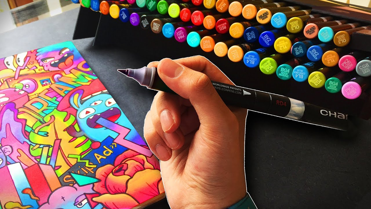 Are These Markers Better Than Copics ?  👏👏 [MARKER REVIEW #3]