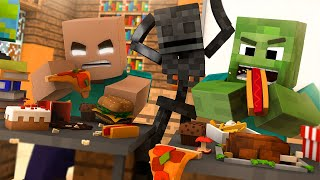 Monster School : BRAVE EATING - Rusplaying Funny Minecraft Animation