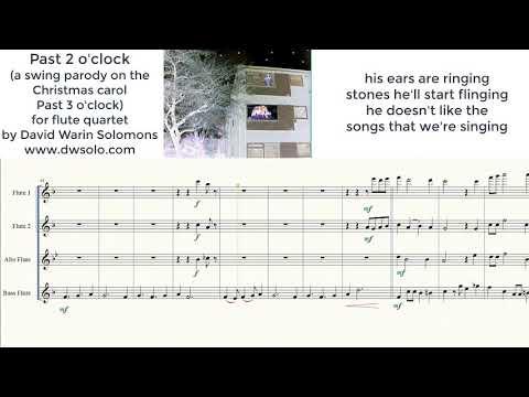 Past 2 o'clock for flute quartet (a swing parody on Past 3 o'clock)