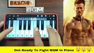 BAAGHI 3 BGM IN PIANO || Get Ready To Fight BGM Instrumental