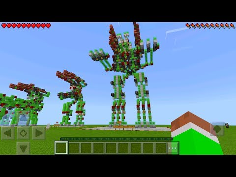 GIANT WORKING ROBOT In Minecraft Pocket Edition (No Mods)