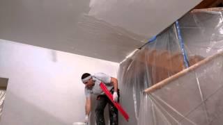 видео Как подготовить потолок к покраске